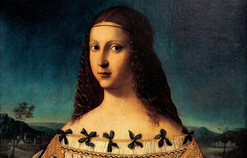 Błogosławiona Beatrycze d'Este pędzla Bartolomeo Veneto. To jeden z wielu XVI-wiecznych obrazów świętych i błogosławionych, w których rozpoznaje się inspirację urodą Lukrecji. A może również jej szlachetnym zachowaniem? (źródło: domena publiczna)