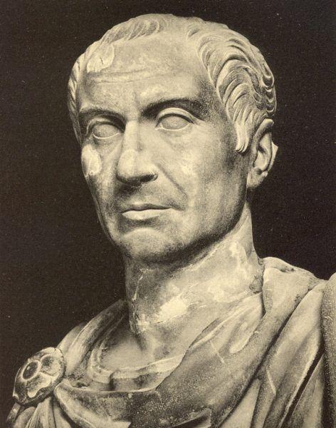 """Juliusz Cezar to chyba najsłynniejsza """"ofiara"""" antycznych piratów (fot. domena publiczna)."""