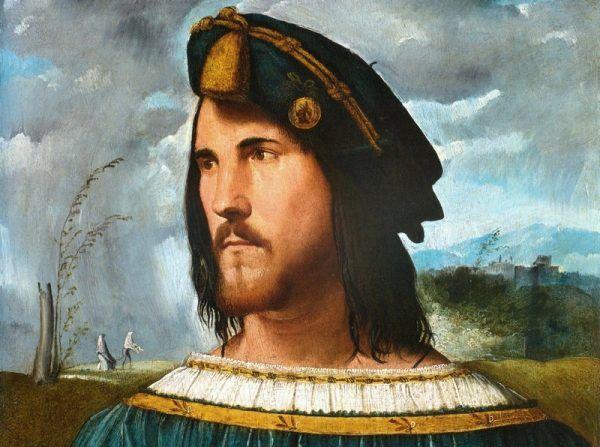 Cezar Borgia – idealny władca, wojownik i kochanek… do czasu. Obraz pędzla Altobello Melone.