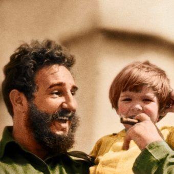 """Fidel zdecydowanie nie był dobrym ojcem. Na ilustracji fragment okładki """"Dzieci dyktatorów""""."""