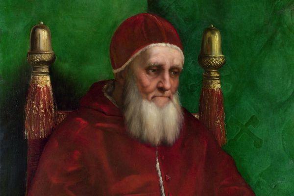 Papież Juliusz II nie afiszował się z córką, by uniknąć zarzutu kontynuowania polityki Borgiów (obraz Rafaela Santi).