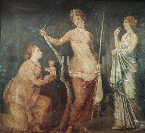 Rzymskie kobiety często potrzebowały opieki bogini Luciny, opiekunki narodzin. Tu ofiarowuje ona dziecko Venus (fot. Carole Raddato, CC BY-SA 2.0).