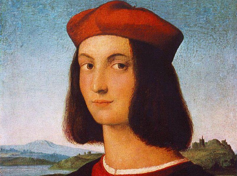 Pietro Bembo - jedna z ostatnich ziemskich pasji Lukrecji (obraz Rafaela Santi, domena publiczna).