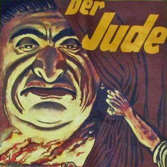 Właśnie za pomocą takich plakatów narodowi socjaliści podsycali wśród Niemców antysemityzm (źródło: domena publiczna).