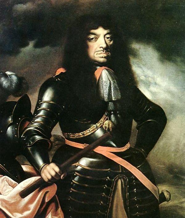 Jan II Kazimierz na obrazie Daniela Schultza z 1660 roku. Te oczy mówią wszystko... (źródło: domena publiczna).