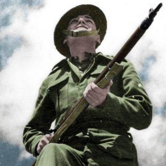 Z żołnierzami z Brygady Karpackiej lepiej było nie zadzierać (fot. domena publiczna; koloryzacja: RK).