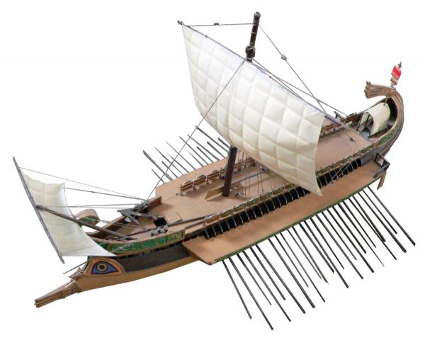 Model rzymskiej galery (fot. Rama, CC BY-SA 2.0 FR).