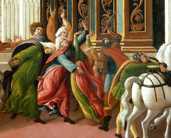 Zabójstwo Wirginii, fragment obrazu Sandro Botticellego.