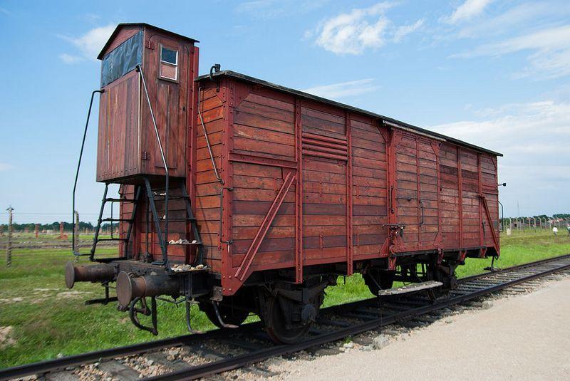 To między innymi takimi wagonami transportowano ofiary Holokaustu (fot. Agatefilm; lic. CC ASA 3.0).