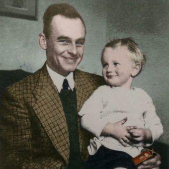 Witold Pilecki na zdjęciu z 1940 roku (źródło: archiwum prywatne Andrzeja Pileckiego; koloryzacja: RK).