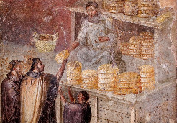 Marek Licyniusz Krassus, najbogatszy Rzymianin epoki republiki, mógł bez trudu żywić miesiącami kilkadziesiąt tysięcy przedstawicieli rzymskiej biedoty (na ilustracji fresk z Pompejów.