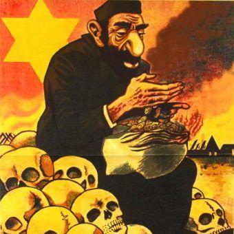 Niemiecki plakat propagandowy z czasów II wojny światowej.