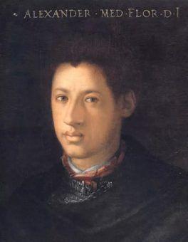 Aleksander de'Medici, domniemany papieski syn, który zginął młodo (obraz Cristofano dell'Altissimo).