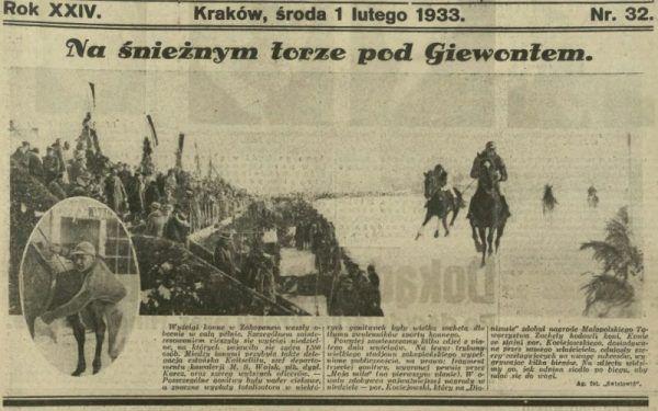 Ilustrowany Kuryer Codzienny miał swoje priorytety. Wyścigi konne wydawały się ważniejsze od przejęcia władzy przez Hitlera...