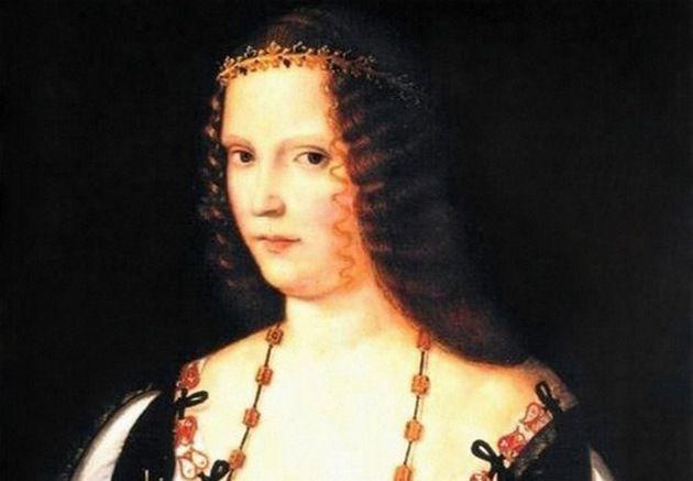 Lukrecja w wieku ok. 30 lat - stateczna i poważana żona, matka oraz księżna (fragment obrazu Bartolomeo Veneto, źródło: domena publiczna).