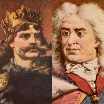 Bolesław Chrobry i August II Mocny - dwaj polscy królowie sportretowani przez Jana Matejkę. Może to oni byli Waszym zdaniem przeklęci? (źródło: domena publiczna)