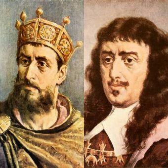 Mieszko II i Jan Kazimierz wg Jana Matejki. Zdaniem nagrodzonych komentatorów faworyci do tytułu polskiego króla przeklętego (źródło: domena publiczna).