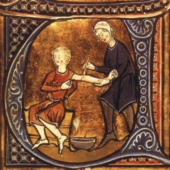 Upuszczanie krwi. Terapia stosowana przez wieki i wcale nie najbardziej szokująca... (źródło: domena publiczna).
