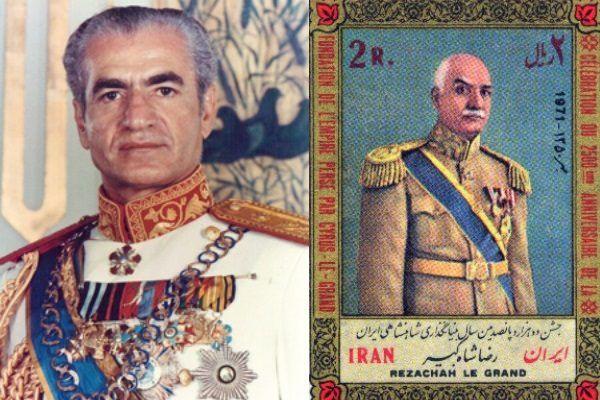 Dwaj ostatni perscy szachinszachowie. Po lewej Mohammad Reza Pahlavi, po prawej jego ojciec obalony przez Brytyjczyków.