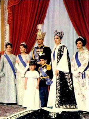 Perska rodzina panująca w 1967 roku.