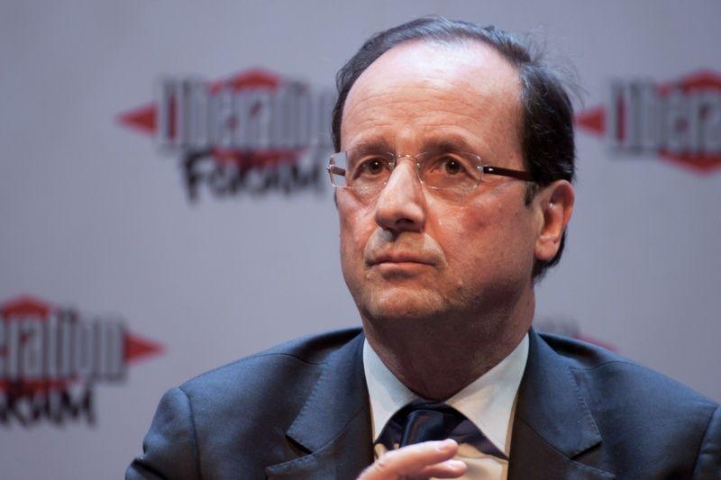 Prezydent Francji François Hollande musiał cierpieć na poważny jet lag, że pomylił Chińczyków z Japończykami... (fot. Matthieu Riegler, lic. CC BY 3.0).