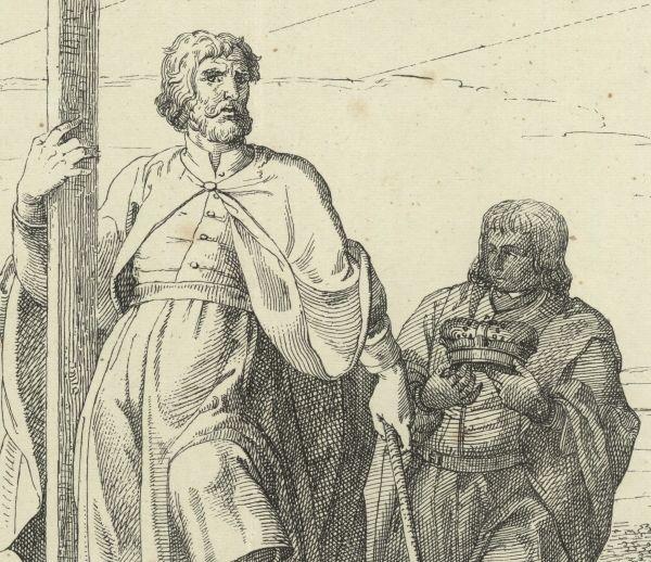 Mieszko I na XIX-wiecznej litografii jako pierwszy chrześcijański władca Polski.