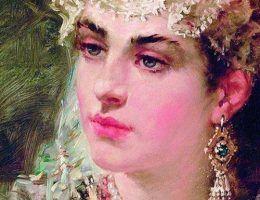 Wiele kobiet tej epoki znanych jest tylko z wyobrażeń artystów tworzących w XVIII lub XIX wieku. Powyżej późny portret żony Włodzimierza Wielkiego, Anny Porfirogenetki, żyjącej w tych samych latach. Jej prawdziwe oblicze też skrywa tajemnica.