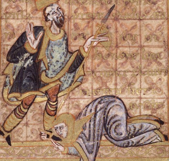 Błagania na nic się zdały. Margrabianka została bezceremonialnie przepędzona z Wielkopolski. Powyżej czeska miniatura z tego samego okresu.