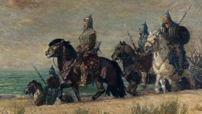Bolesław na czele swojej drużyny w drodze na Kijów.