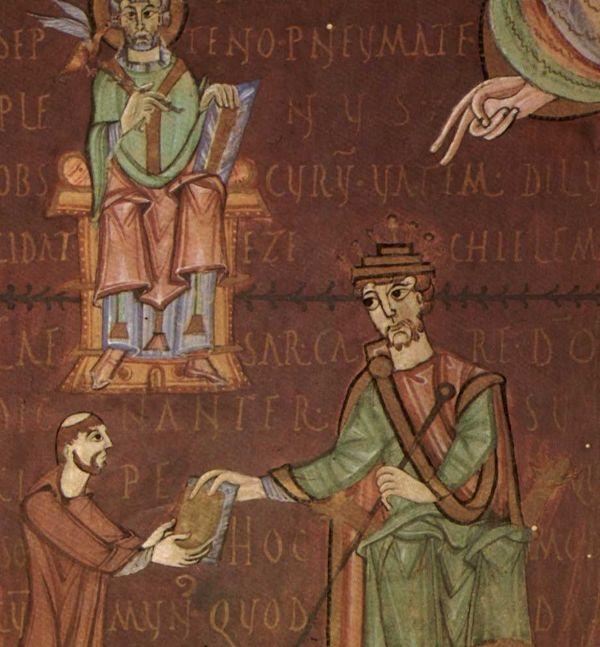 Wytrawny polityk i bezwzględny władca. Taki właśnie był Henryk II. Tutaj na miniaturze z XI wieku.