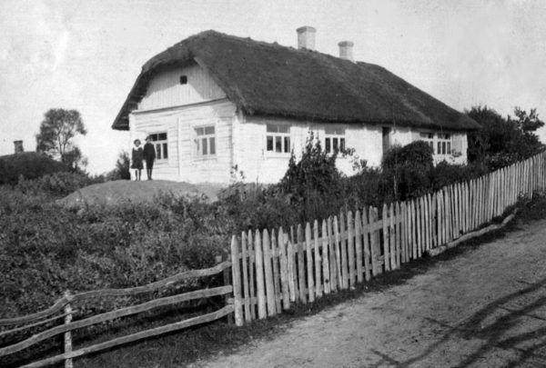 Dworek Kiersnowskich wKupryszkach. Fotografia z1914 roku.