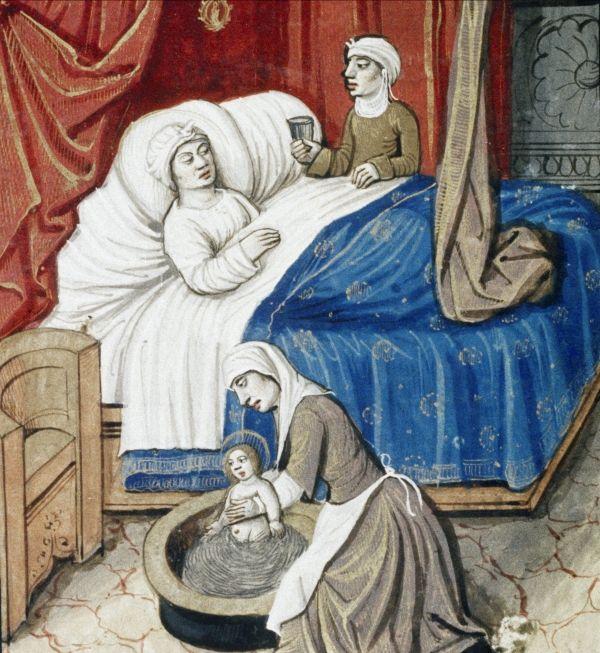 Poród w szerokim towarzystwie? W średniowieczu to był standard.
