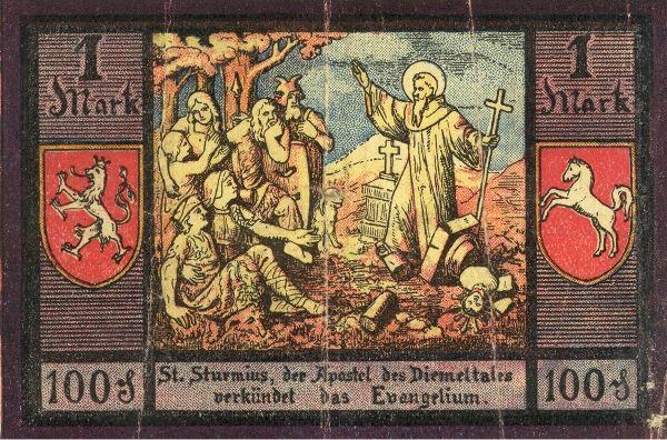 W 1921 roku święty Sturm - człowiek, który podobno uważał, że wszyscy Słowianie to niedomyte dzikie bestie - trafił nawet na niemieckie banknoty.