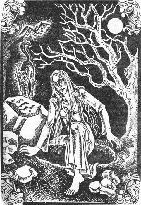 Według słowiańskich ludowych podań z wampirami nie można było walczyć w nocy. Trzeba było podejść je za dania (źródło: domena publiczna).