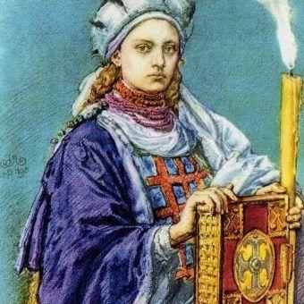 Dobrawa na portrecie Jana Matejki (źródło: domena publiczna).