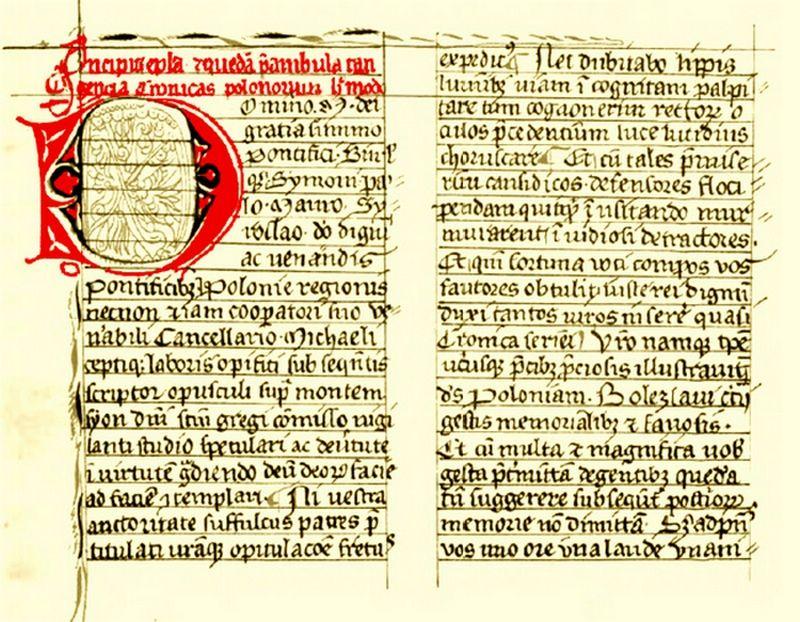Rękopis Zamoyskich z XIV wieku, czyli najstarsza znana kopia dzieła Galla. Czy tu kryje się odpowiedź na pytanie o pochodzenie dziejopisarza? (źródło: domena publiczna)