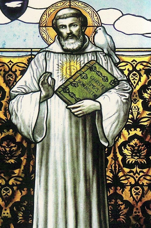 Święty Kolumban, patron piwa (źródło: domena publiczna).