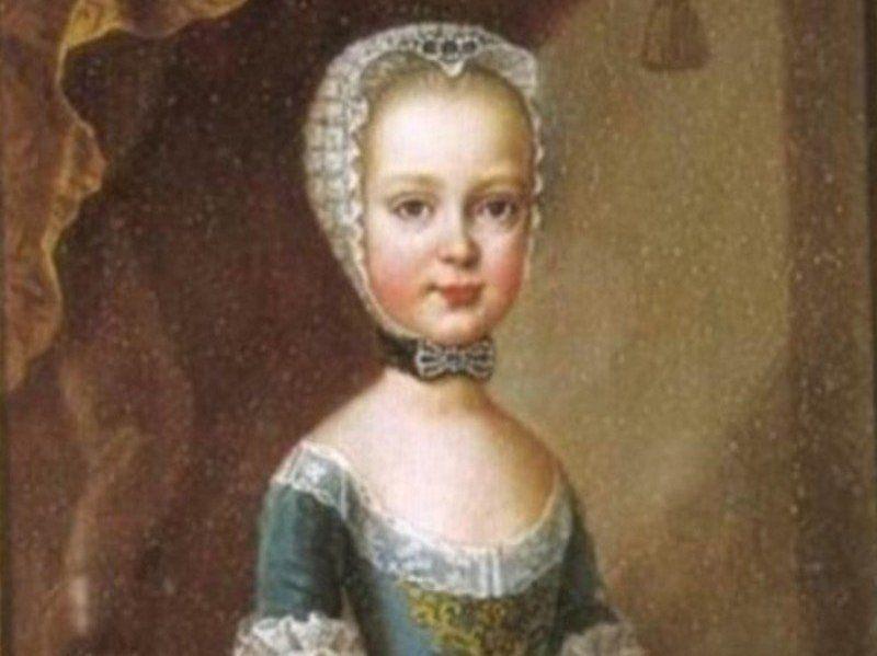 Maria Teresa, starsza z córek Izabeli, zmarła mając zaledwie 7 lat. Jeszcze po jej śmierci jurny pradziadek płodził dzieci (źródlo: domena publiczna).