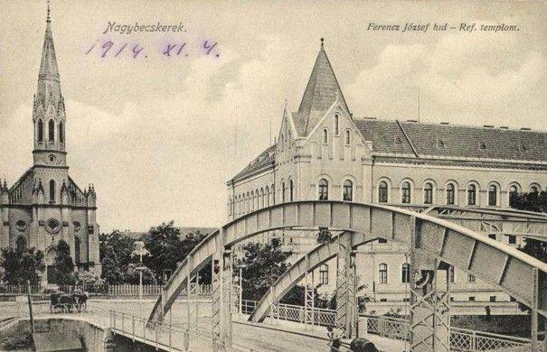 W takiej scenerii rozgrywały się krótkie romanse Very. Węgierska pocztówka przedstawiająca Berkerekul w 1914 roku (źródło: domena publiczna).
