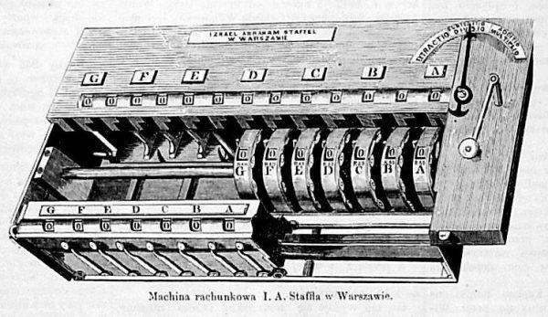 Maszyna licząca Izraela Abrahama Staffela, który korzystał z dorobku Abrahama Sterna.