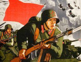 Doskonale zgrana piechota, lotnictwo oraz czołgi Armii Czerwonej gromią wroga. W 1941 roku takie rzeczy to tylko na plakatach propagandowych (źródło: domena publiczna).