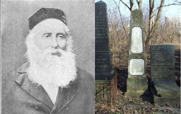 Chaim Zelig Słonimski i jego grób na cmentarzu żydowskim przy ulicy Okopowej w Warszawie (fot. nagrobka Hubert Śmietanka, CC BY-SA 2.5).