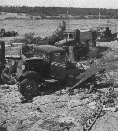 """Drogi zagłady – sowieckie czołgi, pojazdy, broń i wyposażenie. Zdjęcie i podpis z książki """"Żołnierze przeciwko śmierci i diabłu"""". Kliknij w zdjęcie, aby je powiększyć."""