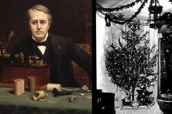 Thomas Edison wcale nie był twórcą pierwszych lampek choinkowych. Szybko jednak zaczął na nich zarabiać....