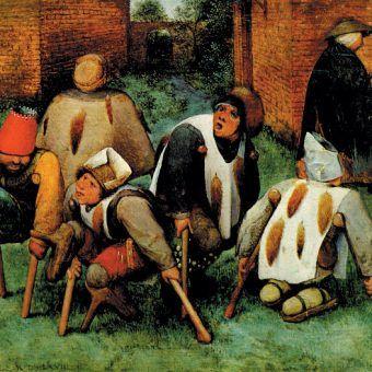 """""""Kalecy"""", obraz Pietera Bruegla starszego."""