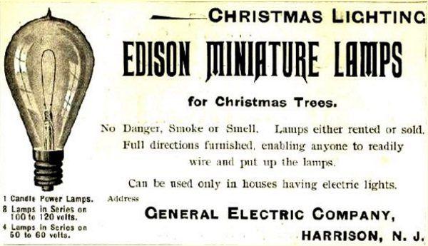 Lampki Johnsona szybko zaczęto sprzedawać jako... lampki Edisona.