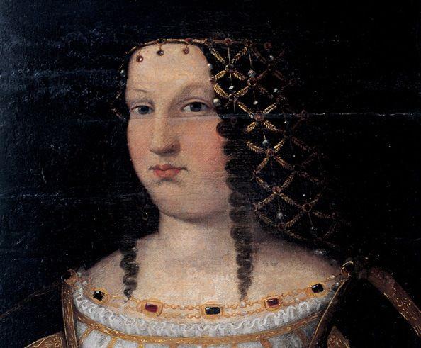 Największa ofiara nagonki na Borgiów. Lukrecja sportretowana pod koniec swego życia przez Bartolomea Veneto (fragment kopii obrazu, źródło: domena publiczna).