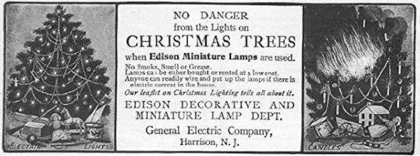 Częste pożary choinek tylko napędzały producentom lampek klientów...