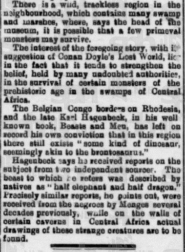 """Ciąg dalszy artykułu opublikowanego przez """"The Straits Times"""" w 1919 roku."""
