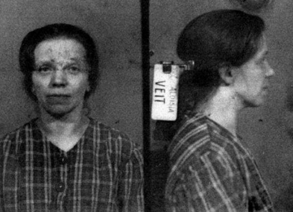 Aloisia Veit, mimo że była kuzynką Hitlera, nie mogła liczyć na specjalne traktowanie (źródła: domena publiczna).
